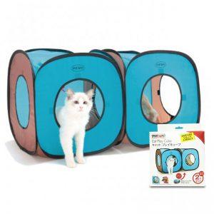 Cat Play Cube Tent - Blue Grey